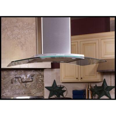 Contemporary Series 36 in. Island Range Hood in Stainless Steel