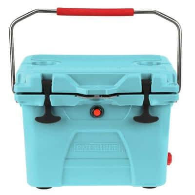 20-Quart High-Performance Cooler with Lockable Lid in Sea Foam Blue