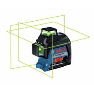 200 ft. Green 360-Degree Laser Level Self Leveling with Visimax Technology, Fine Adjustment Mount and Hard Carrying Case