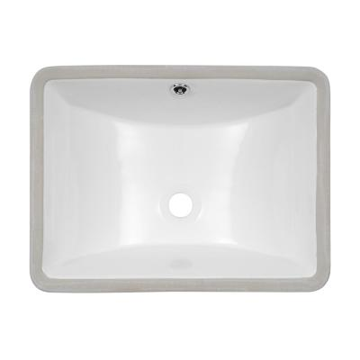 18 in. x 14 in. Vessel Sink Rectangle Undermount Bathroom Sink White