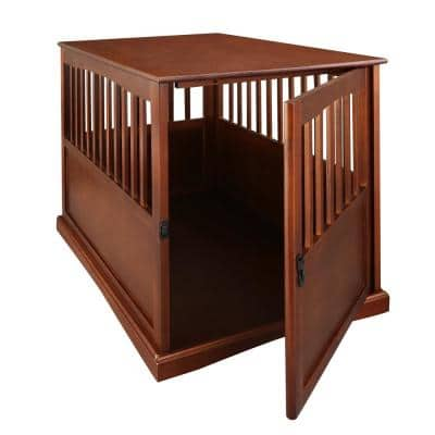 Pet Crate End Table, Walnut