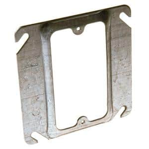 4 in. Square Single Device Mud Ring, 1/2 in. Raised