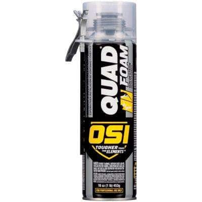 QUAD 16 fl. oz. Window and Door Installation Foam for Dual Use with Gun or NEW Pro Size Straw (12-Pack)