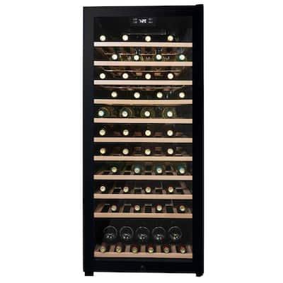 Single Zone 94-bottle Free-Standing Wine Cooler in Black
