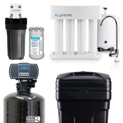 Whole House Filtration with 64,000 Grain Water Softener, Reverse Osmosis System and Sediment-GAC Pre-filter