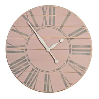 36 in. Vintage Tea Rose Farmhouse Wall Clock