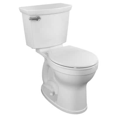 Champion Tall Height 2-Piece High-Efficiency 1.28 GPF Single Flush Round Front Toilet in White Seat Included (4-Pack)