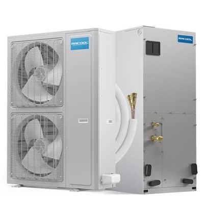 DIY Universal 54,000 BTU 17 SEER R-410A Central Split System Heat Pump with 50 ft. No-Vac Install Kit - 208/230-Volt