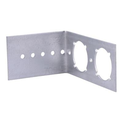 3/8 in. x 1 in. Stainless Steel Toilet Bracket