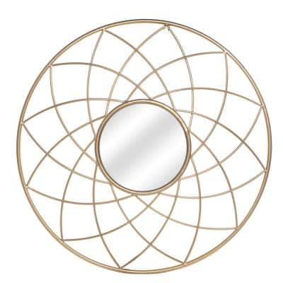 27.5 in. x 27.5 in. Round Framed Wall Mirror