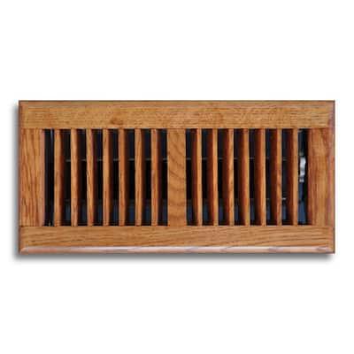 4 in. x 10 in. Oak Floor Diffuser