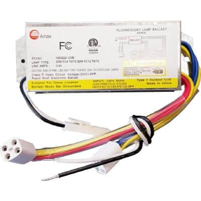120-Volt 6.31 in. Electronic Ballast 2 Lamps FC8T9/T5 and FC12T9/T5