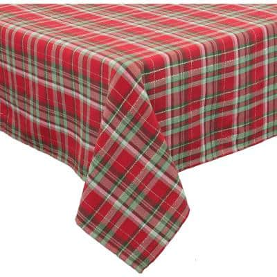 Holiday Tartan 120 in. x 70 in. Christmas Tablecloth