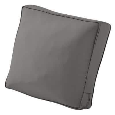 Montlake 25 in. W x 15 in. H x 4 in. T Outdoor Lounge Chair/Loveseat Back Cushion in Light Charcoal