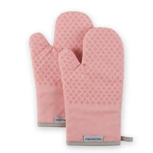 Asteroid Silicone Grip Rose Pink Oven Mitt Set (2-Pack)