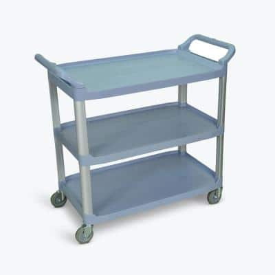 40.5 in. W x 19.75 in. D Large 3-Shelves Serving Utility Cart