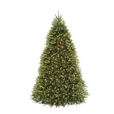 10 ft Dunhill Fir Pre-Lit Artificial Christmas Tree with 1200 Warm White Mini Lights