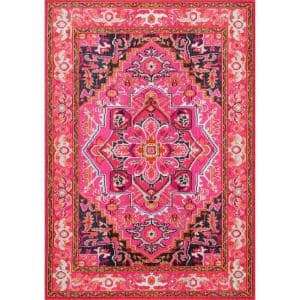 Mackenzie Persian Medallion Violet Pink 7 ft. x 9 ft. Area Rug