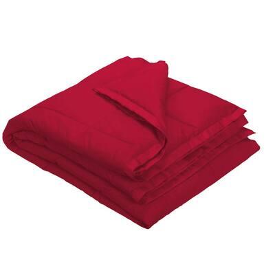 LaCrosse LoftAIRE Down Alternative Classic Red Cotton Throw Blanket