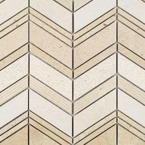 Dart Winged Crema 11-3/4 in. x 11-3/4 in. x 10 mm Polished Marble Mosaic Tile