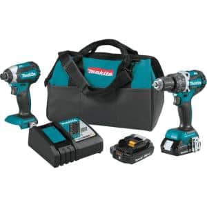 18-Volt LXT Lithium-Ion Brushless Cordless Hammer Drill and Impact Driver Combo Kit (2-Tool) w/ (2) 2Ah Batteries, Bag