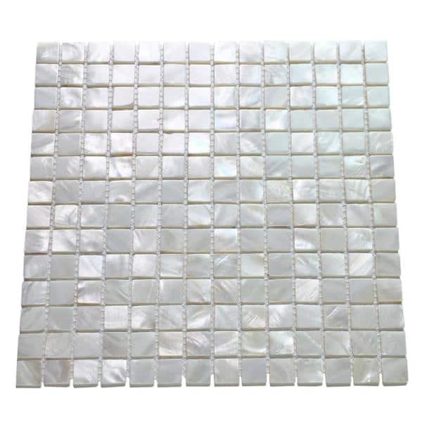 Art3d 12 In X 12 In Mother Of Pearl Shell Mosaic Tile Backsplash In White A18010p10 The Home Depot