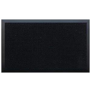 Black 48 in. x 120 in. Teton Residential Commercial Mat