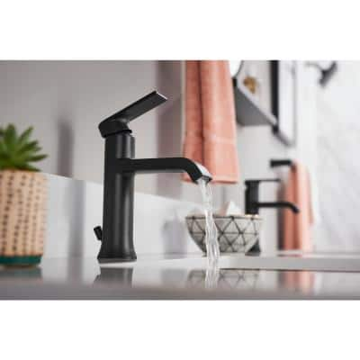 Genta Single Hole Single-Handle Bathroom Faucet in Matte Black