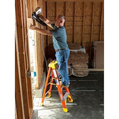 4 ft. Fiberglass Step Ladder with 300 lbs. Load Capacity Type IA