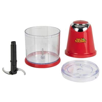 1400 W Red Salsa and Guacamole Chopper and Slicer