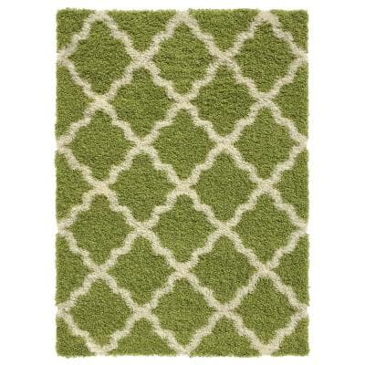 Maxy Home Bella Collection Green 5 Ft X 7 Ft Area Rug Be 2895 5x7 The Home Depot