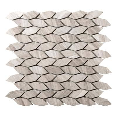 Limestone Gray Honed 12.01 in. x 12.05 in. x 10mm Limestone Mesh-Mounted Mosaic Tile (1.01 sq. ft.)