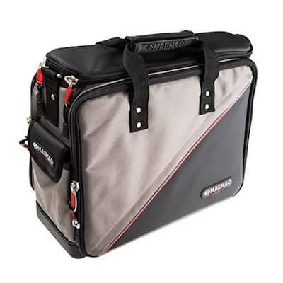 17 in. 50-Pocket Tool Bag in Black/Grey