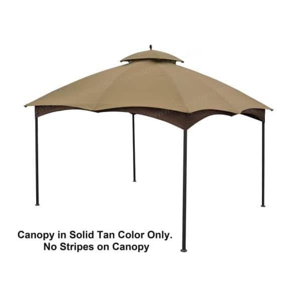 Replacement Canopy Beige for 10 x 12 ft Turnberry Gazebo Fabric Top Protection