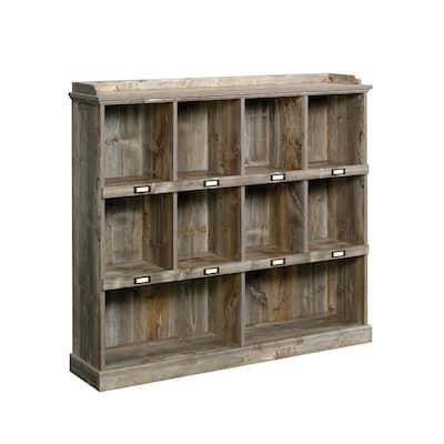 Granite Trace 47 in. Rustic Cedar Engineered Wood 3-Shelf Cubby Bookcase