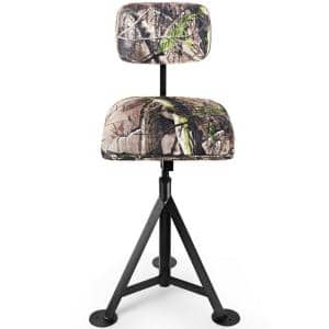 Tripod Swivel Hunting Chair with Detachable Backrest
