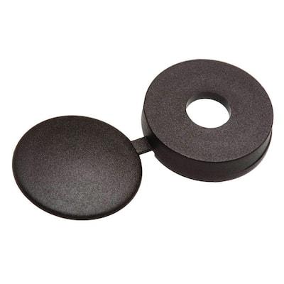 #8 Black Hinged Pan-Head Screw Cover (3 per Pack)