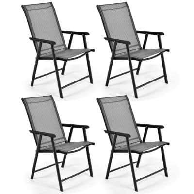 4-Piece Folding Portable Metal Outdoor Recliner
