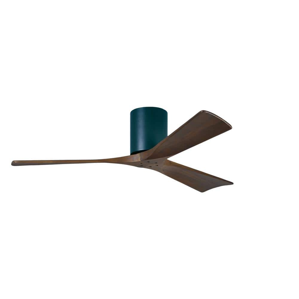 Atlas Irene 52 In Indoor Outdoor Matte Black Ceiling Fan With Remote Control And Wall Control Ir3h Bk Wa 52 The Home Depot