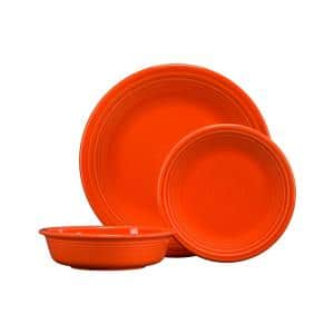 3-Piece Casual Poppy Ceramic Dinnerware Set (Service for 1)