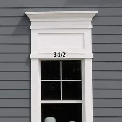 3/4 in. x 3-1/2 in. x 12 ft. Reversible Cellular White PVC Trim