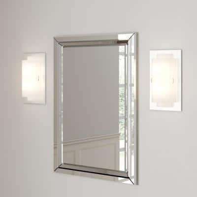 Noelle 2-Light Polished Chrome CFL Wall Sconce with Frosted Glass Shade