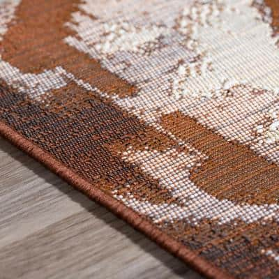 Tucson 7 Ikat Chocolate 8 ft. 2 in. x 10 ft. Area Rug