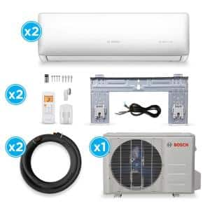 Gen 2 ENERGY STAR 2-Zone 18,000 BTU 1.5 Ton Ductless Mini Split Air Conditioner with Heat Pump 230-Volt