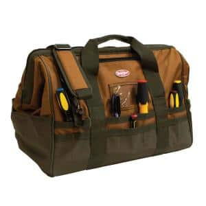 Gatemouth 20 in. Tool Bag in Brown and Green