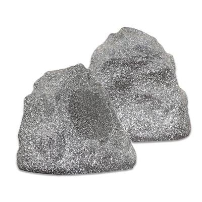 Outdoor Granite Rock 2-Speaker Set for Deck Patio Garden