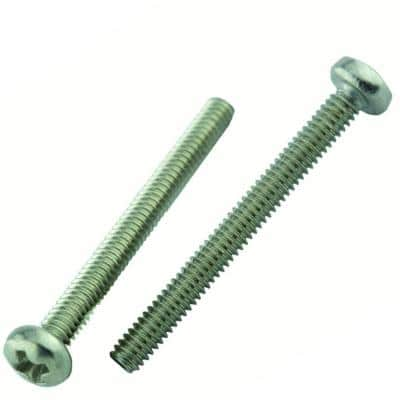 M4-0.7 x 45 mm Phillips Pan Head Stainless Steel Machine Screw (2-Pack)