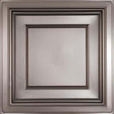 Madison Faux Tin 2 ft. x 2 ft. Lay-in Coffered Ceiling Panel (Case of 6)