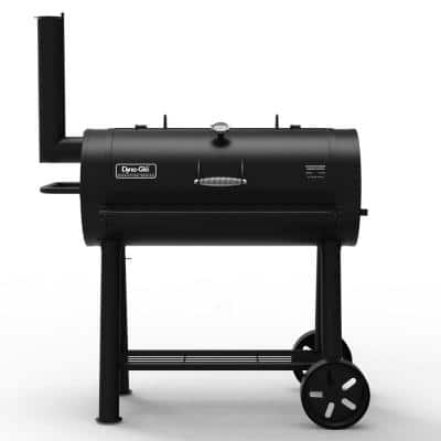 Signature Heavy-Duty Barrel Charcoal Grill in Black
