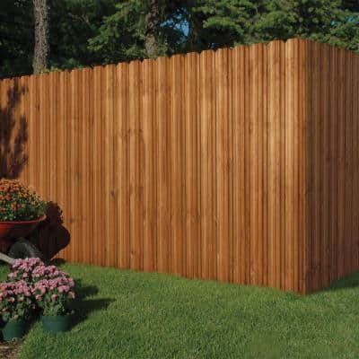4 in. x 4 in. x 9 ft. Pressure-Treated Cedar-Tone Moulded Fence Post